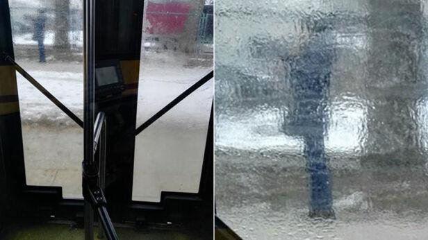 Zamarzły szyby w autobusach Valeriana / warszawa@tvn.pl