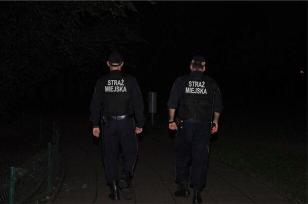 Strażnicy miejscy przyjechali na miejsce SM