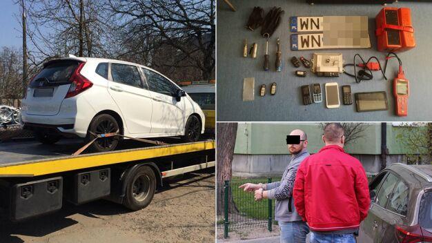 Poszukiwany listami gończymi jechał autem, które ukradł