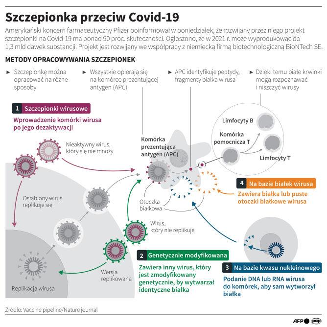 Szczepionka przeciwko COVID-19 (PAP/Maciej Zieliński/Adam Ziemienowicz)