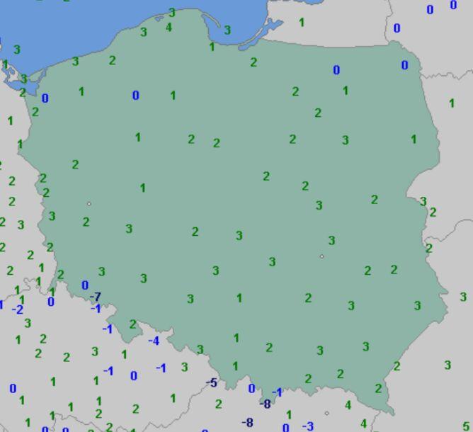 Temperatura minimalna 26 grudnia (wetteronline.de)
