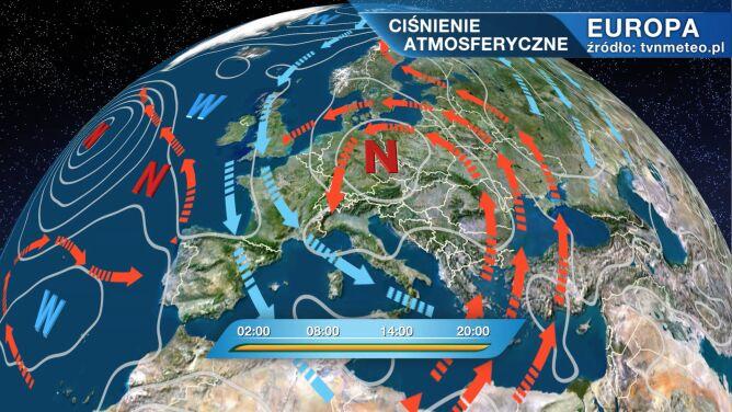 Axel rządzi pogodą w Polsce