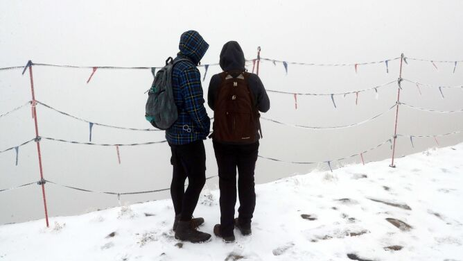 Jeszcze nie ma jesieni, a na Kasprowym Wierchu już zima na całego