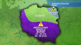 Warunki drogowe w czwartek 13.05