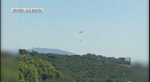 Silny wiatr utrudnia akcje przeciwpożarowe w Grecji