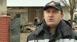 Zniszczenia w Przeworsku (TVN24)